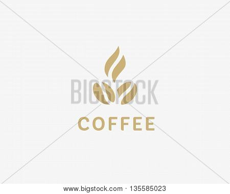 Coffee logotype. Hot coffee logo. coffee shop illustration design elements vector. Stylized coffee cup icon. Cafe food court sign symbol