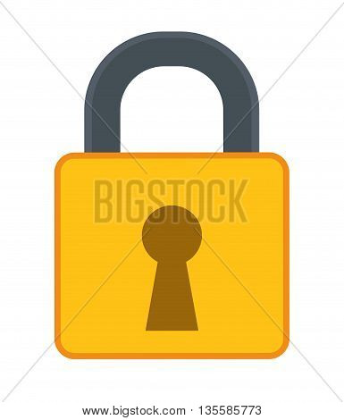 Security and warning represented by padlock icon over isolated and flat background