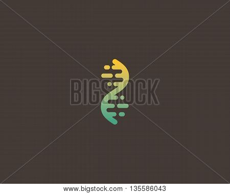 Abstract biotechnology dna logotype. Medicine, science, laboratory, modern logo icon. Technology DNA vector concept