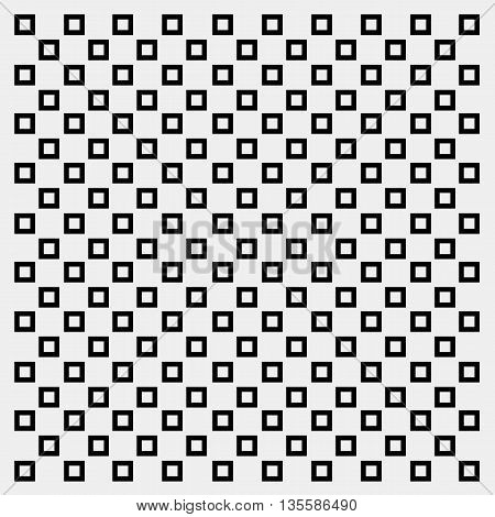 Geometric simple monochrome minimalistic vector pattern, rectangles or squares