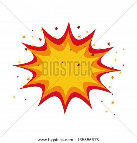 Explosion represented by bomb icon over isolated and flat background
