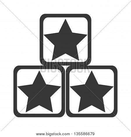 flat design grey and white toy construction blocks with stars on them vector illustration