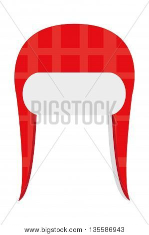 red winter knit hat icon vector illustration