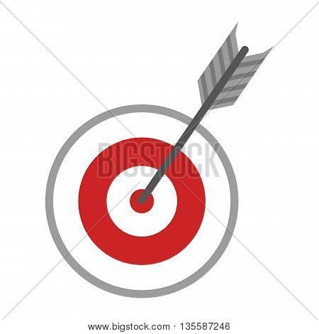 Game represented by target icon over isolated and flat background