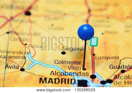 Colmenar Viejo pinned on a map of Spain