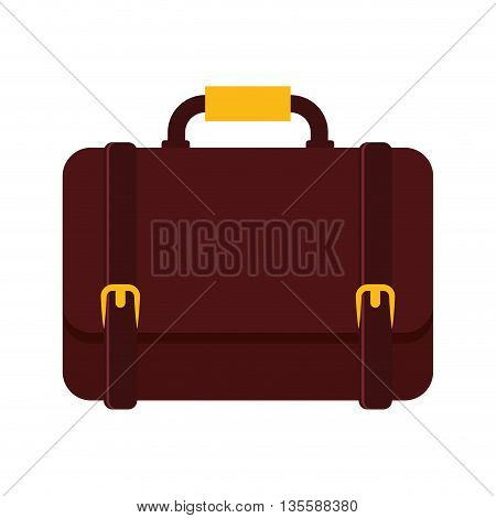 Bag and business represented by suitcase icon over isolated and flat background