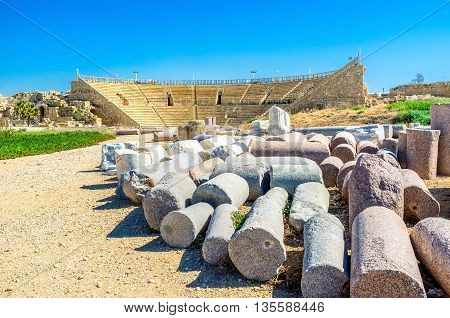 The Caesarean Colosseum is the most famous Roman amphitheater in Israel.