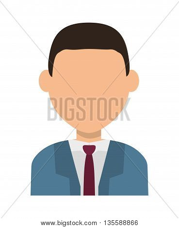 Man represented by male avatar icon over isolated and flat background