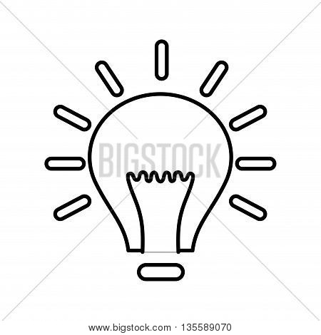 Energy represented by light bulb icon over isolated and flat background