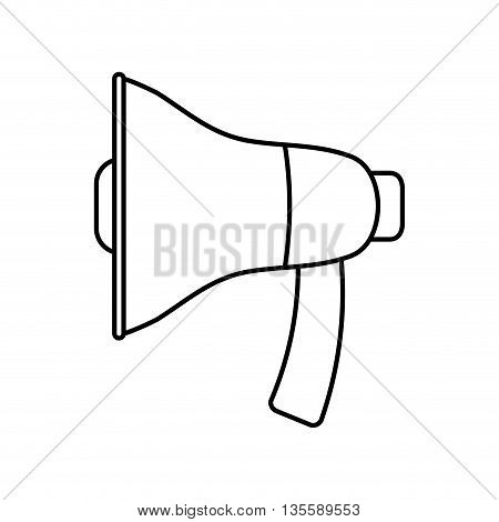 Communication  represented by megaphone icon over isolated and flat background