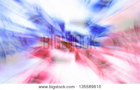 3D rendering abstract multicolored background