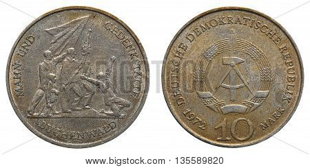 Commemorative Coin Of The German Democratic Republic With Inscription - Memorial Buchenwald