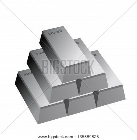 silver bars , six silver bricks ,