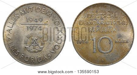 Commemorative Coin Of The German Democratic Republic With Inscription - Everything With The People -