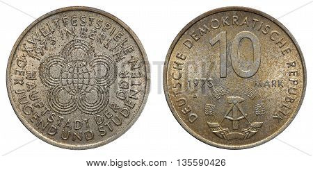 Commemorative Coin Of The German Democratic Republic With Inscription - 10Th World Festival Of Youth