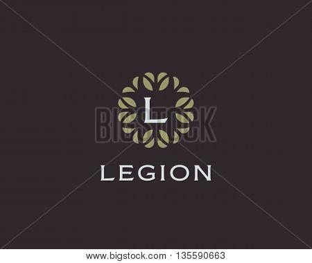 Premium monogram letter L initials logo. Universal symbol icon vector design. Luxury abc leaf logotype