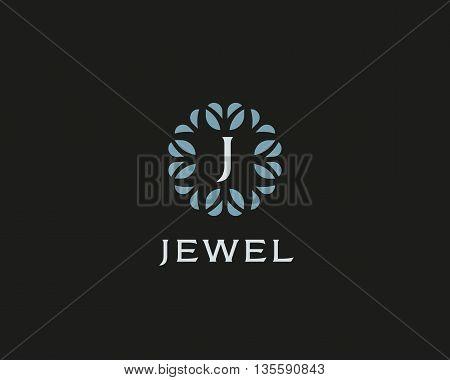 Premium monogram letter J initials logo. Universal symbol icon vector design. Luxury abc leaf logotype