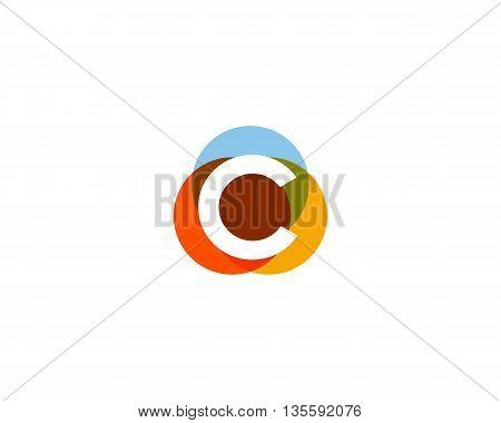 Color letter C logo icon vector design
