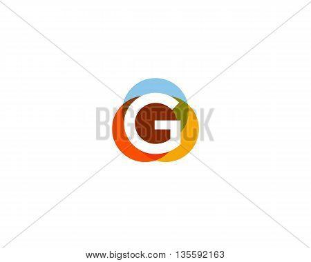 Color letter g logo icon vector design