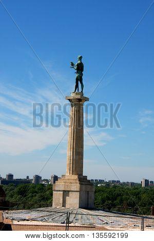 Statue of Victory in Belgrade on Kalemegdan, Serbia