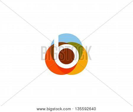 Color letter b logo icon vector design