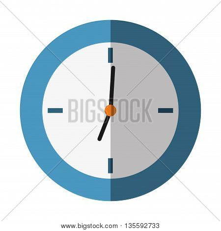 Time represented by classic clock over isolated and flat background