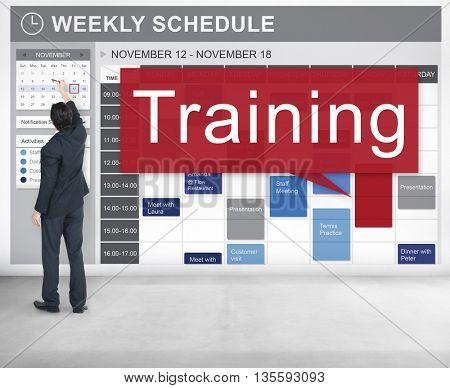 Training Coaching Mentoring Development Concept