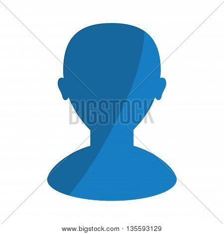 Person represented by man avatar icon over  isolated and flat background