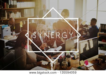 Synergy Team Unity Interaction Cooperation Concept