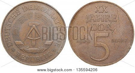 Commemorative Coin Celebrating 20 Year Anniversary Of The Gdr