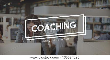 Coaching Teaching Mentoring Guide Concept