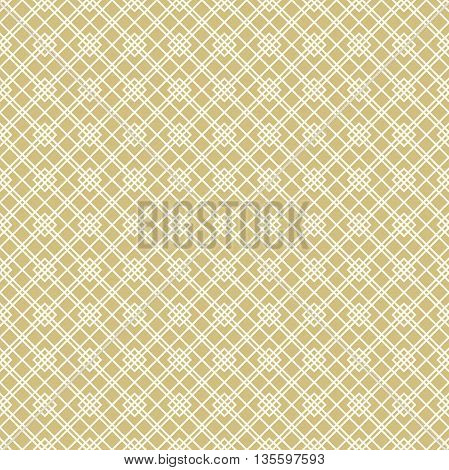 Geometric abstract vector background. Seamless modern pattern. Golden and white pattern