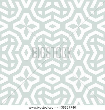Geometric abstract vector background. Seamless modern pattern. Light blue and white pattern