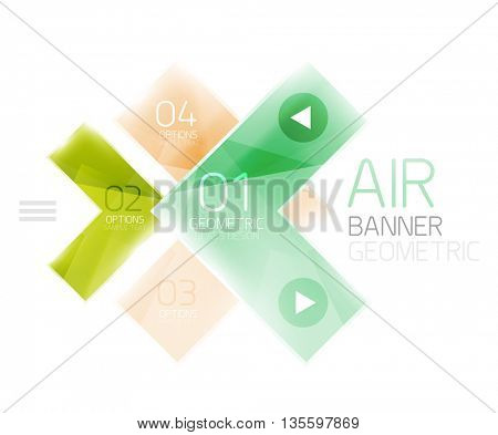 Glass arrow design template. Business infographic template