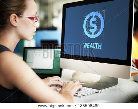 Wealth Finance Business Technology Graphic Concept
