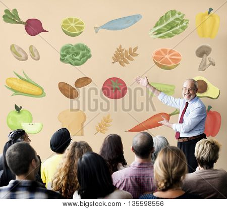 Healthy Ingredient Raw Food Nutrition Concept
