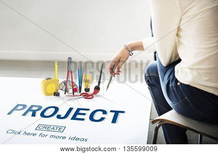 Project Instrument Set Tools Equipment Concept