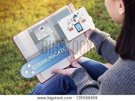 Sharing Networking Connection Exchange Technology Graphic Concept