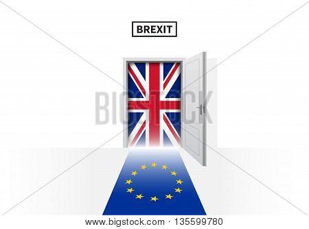 Brexit referendum in Great Britain. British and European Union flags. Vector illustration