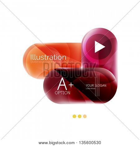 Capsule business option infographics. Vector presentation element