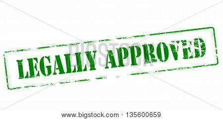 Rubber stamp with text legally approved inside vector illustration