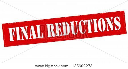 Rubber stamp with text final reductions inside vector illustration