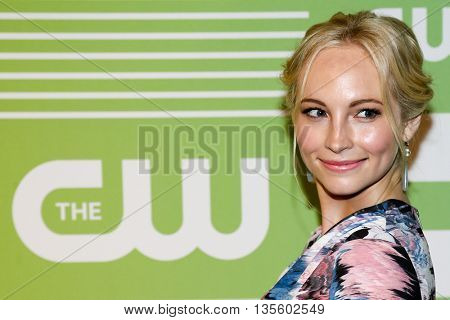 NEW YORK, NY - MAY 14: Actress Candice Accola attends the 2015 CW Network Upfront Presentation at the London Hotel on May 14, 2015 in New York City.