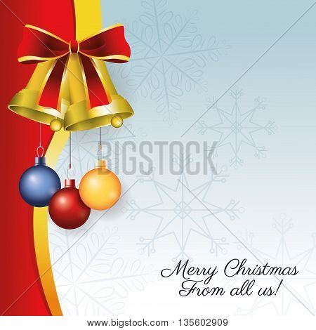 Merry Christmas represented by decoration icon over colorfull and flat background.