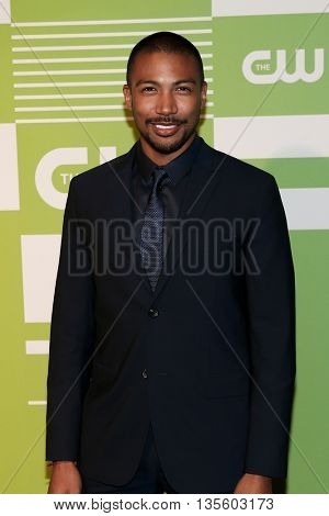 NEW YORK, NY - MAY 14: Actor Charles Michael Davis attends the 2015 CW Network Upfront Presentation at the London Hotel on May 14, 2015 in New York City.