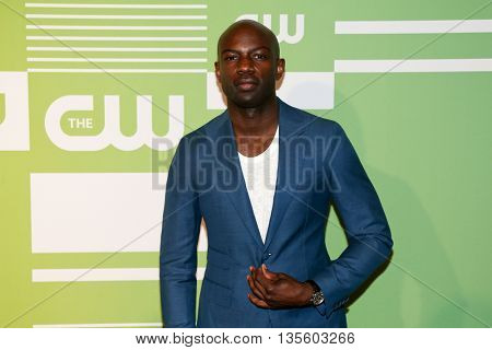 NEW YORK, NY - MAY 14: Actor David Gyasi attends the 2015 CW Network Upfront Presentation at the London Hotel on May 14, 2015 in New York City.