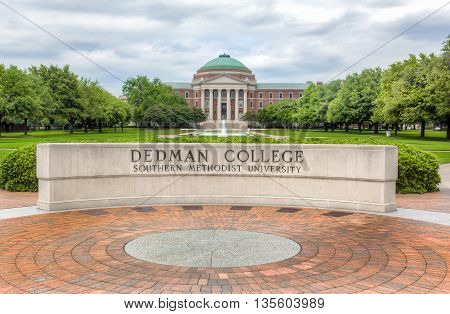 Dedman College Of Humanities And Sciences On The Campus Of Southern Methodist University