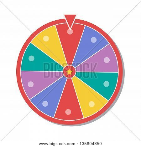 Wheel of fortune vector illustration eps1 0
