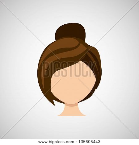 female hairstyle design, vector illustration eps10 graphic