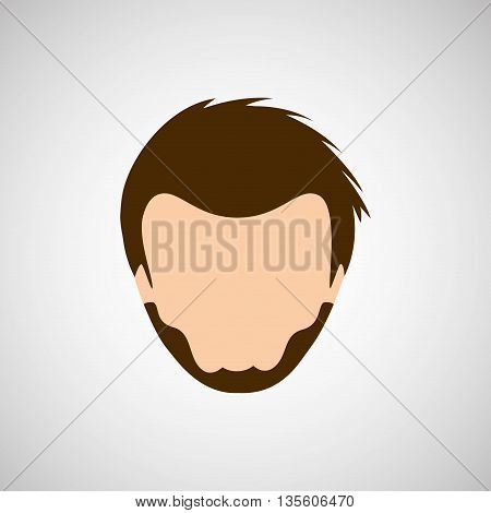 male hairstyle design, vector illustration eps10 graphic